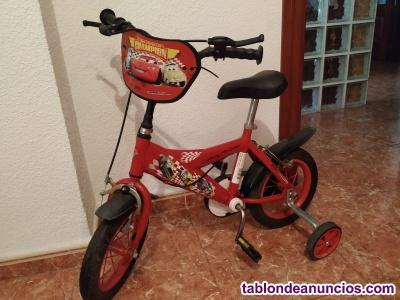 "Bicicleta infantil disney cars 12"""