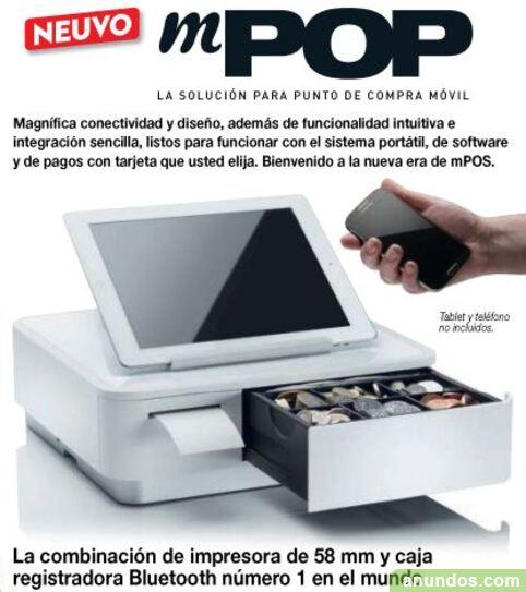 Caja registradora tpv mpop combinación de impresora y
