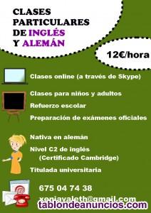 Clases online de inglés y alemán