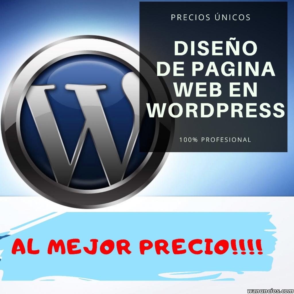 Diseño de páginas web en wordpress al mejor precio -