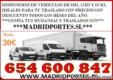 PORTES MUY ECONOMICOS POR HORAS MADRID - Madrid