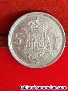 5 pesetas de juan carlos 1 de  *