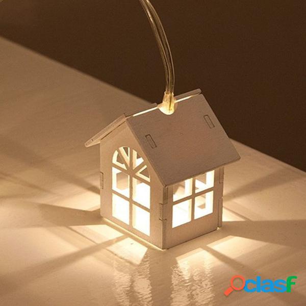 1.5M 10Lamp LED Luces de hadas Cadena de luz blanca cálida
