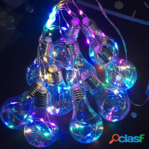 10 Bombillas LED String Fairy Light Hanging Firefly Party