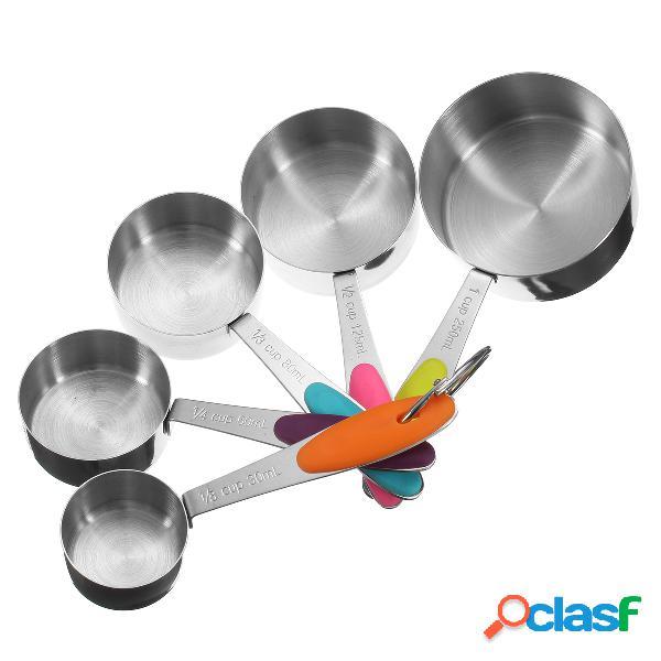 10 piezas de acero inoxidable que miden las cucharas de