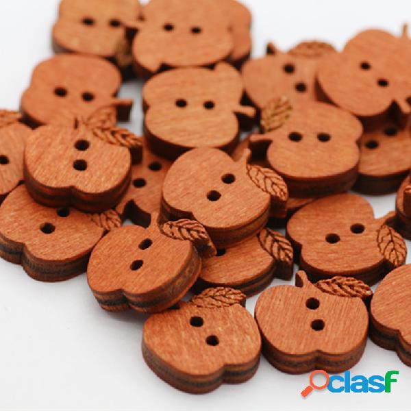 100 piezas de Apple en forma de decoración de madera de