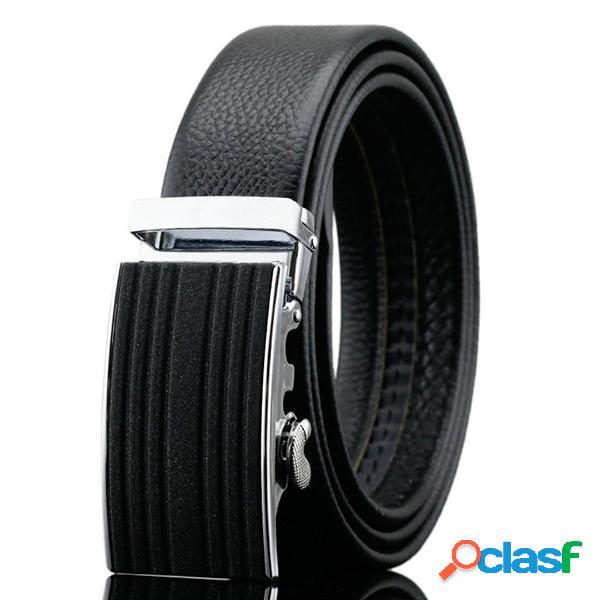 125-130 CM Business Piel Genuina Cinturón Primera capa de