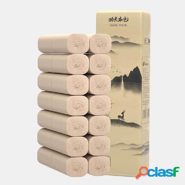 14 rollos de papel de bambú sin núcleo Toalla Ultra Soft