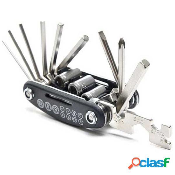 15 en 1 mini herramienta de reparación de bicicletas
