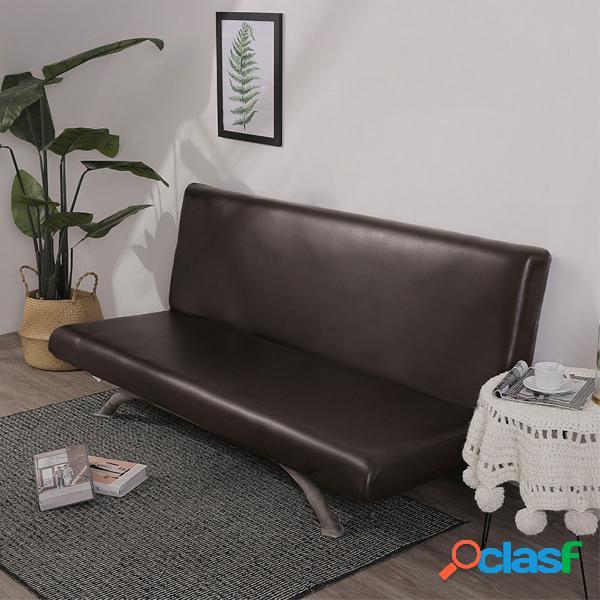 180x100cm Negro Marrón Gris Cuero Funda de sofá Inicio