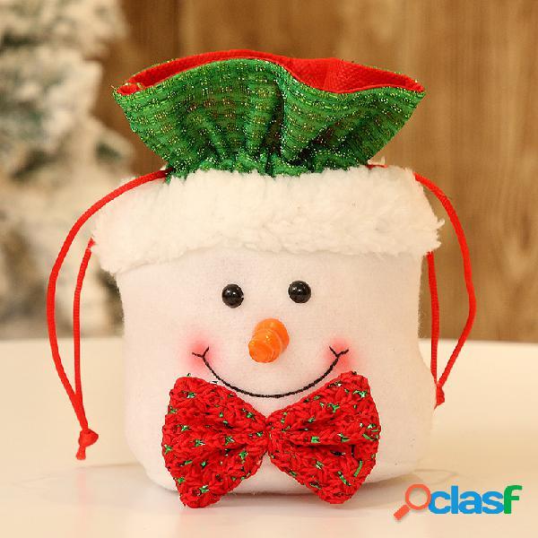 1Pcs Flannel Christmas Candy Bolsa Gift Bolsa Home Christmas