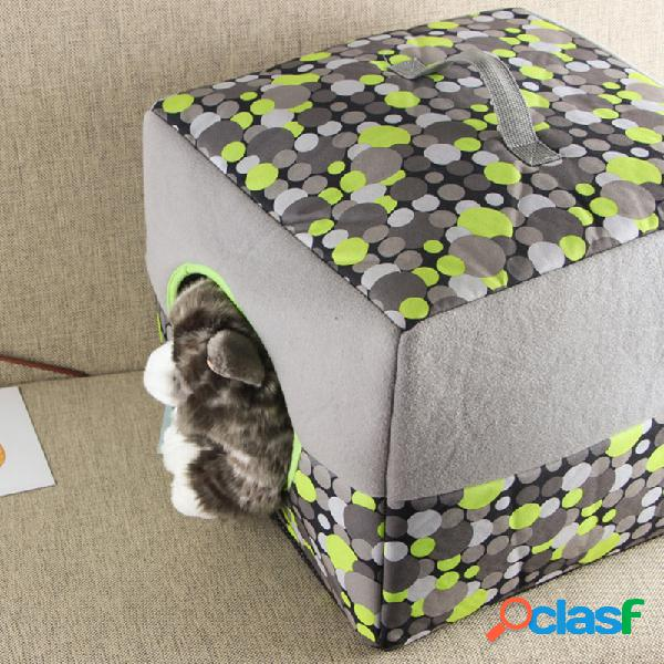 2 en 1 mascota gato colgando perrera cama gatito sofá cama