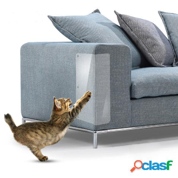2 piezas Pet Gato Scratch Guard Mat Protector de muebles