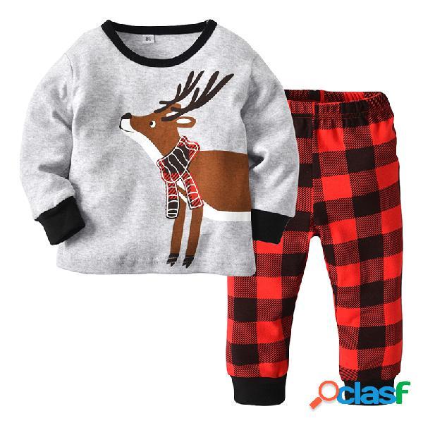 2 piezas de juegos de navidad para niños pequeños pijamas