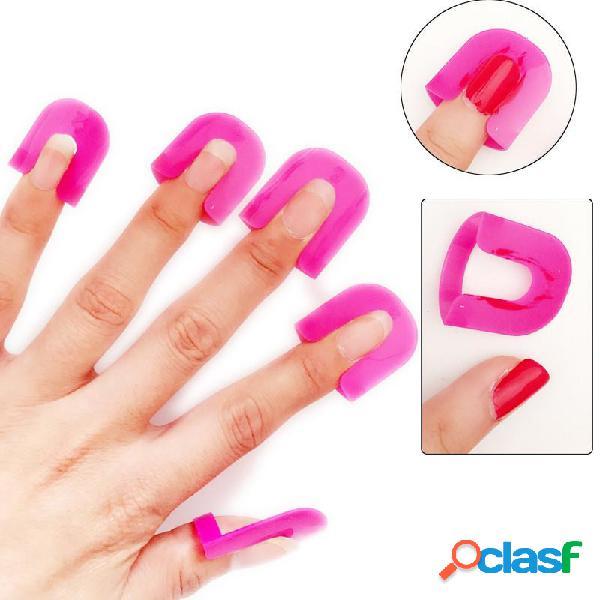 26 piezas Herramienta antidesbordamiento para uñas de uñas