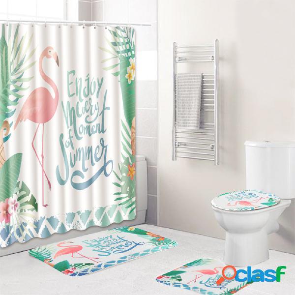 3 PCS Cuarto de baño Juego de alfombras Cubierta de inodoro