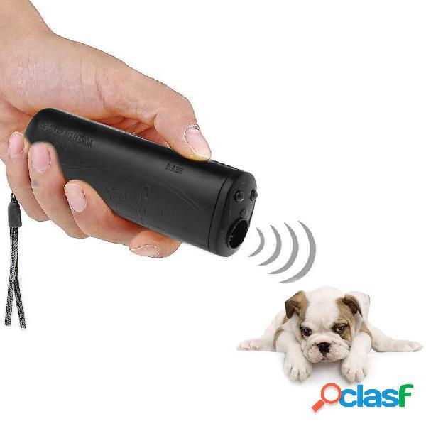 3 en 1 Anti Barking Stop Bark Ultrasonic Pet Perro