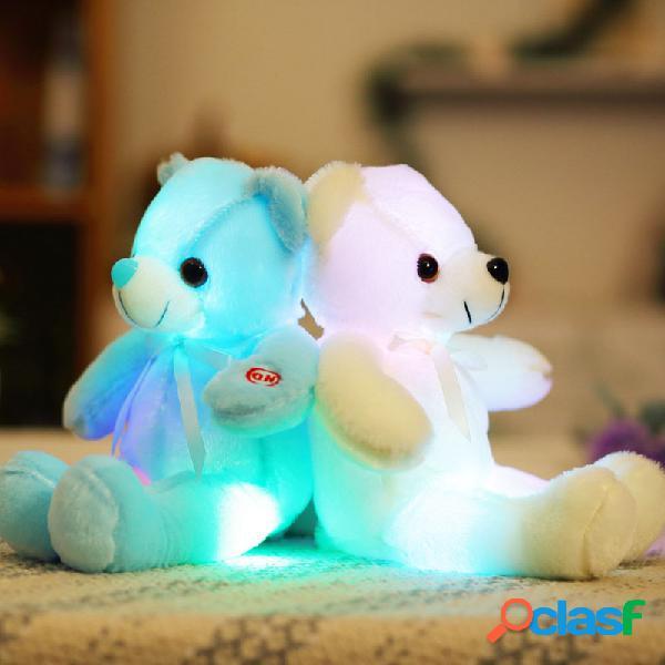 32cm Pequeños juguetes de luz LED felpa parpadeante Juguete