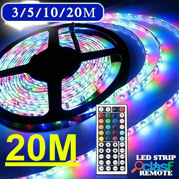3/5 / 10M 3528 SMD RGB 600 LED Cinta de luz de tira + 44