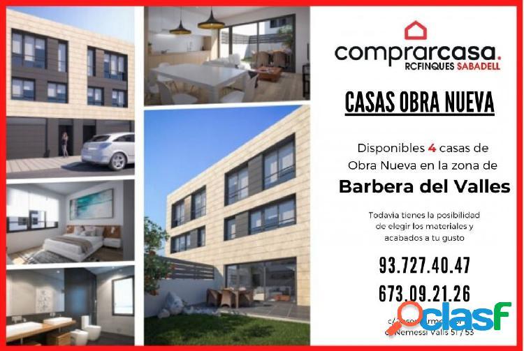 4 Casas de Obra Nueva en Barbera del Valles Zona casco