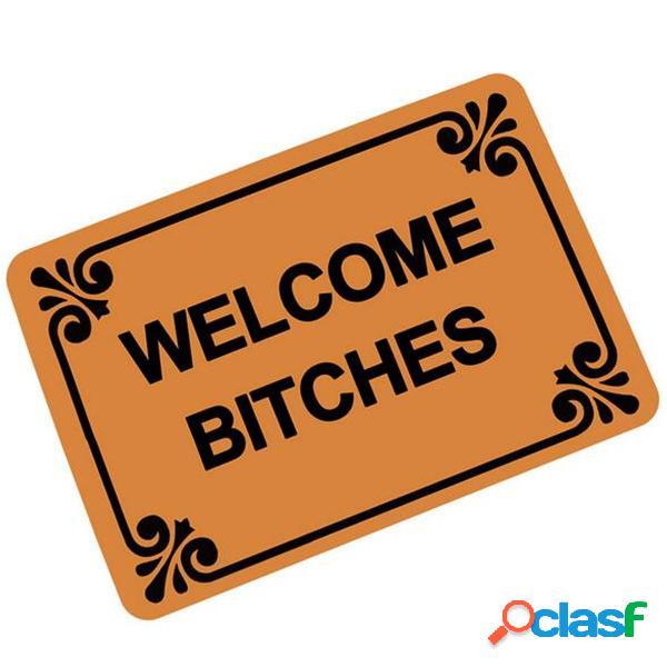 40 * 60 cm carta divertida bienvenida felpudo alfombra de