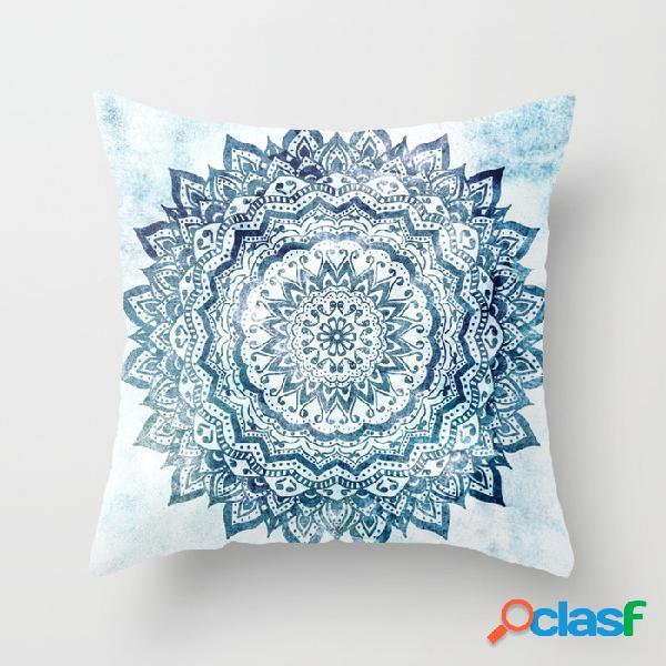 45cm mandala de algodón de lino de impresión funda de