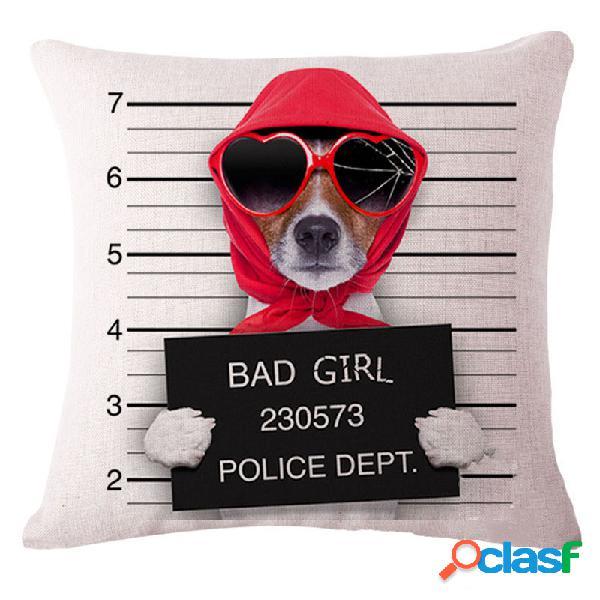 45x45cm decoración casera creativa perros de dibujos