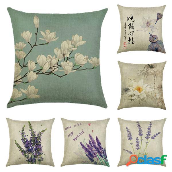 45x45cm decoración del hogar flores y plantas diseño de