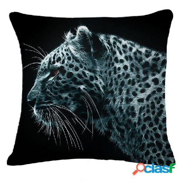 45x45cm decoración del hogar negro 3D animales de