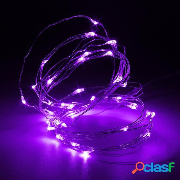 5M 50 LED de alambre de cobre Fairy cadena de luz batería