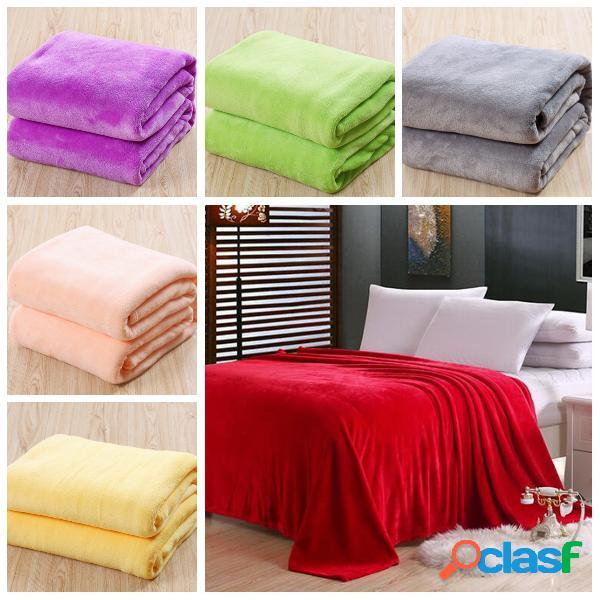 6 colores 150x200cm flanela cálida de lujo coral manta cama