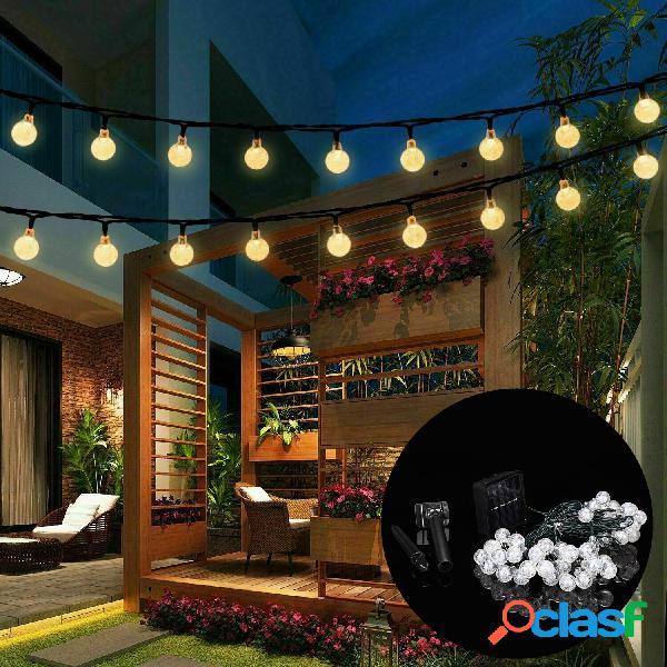 9.5M 50 LED Solar Luz de cadena de bombilla de hadas 8 modos