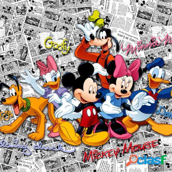 AG Design Papel de pared fotográfico Mickey on Dark Comics