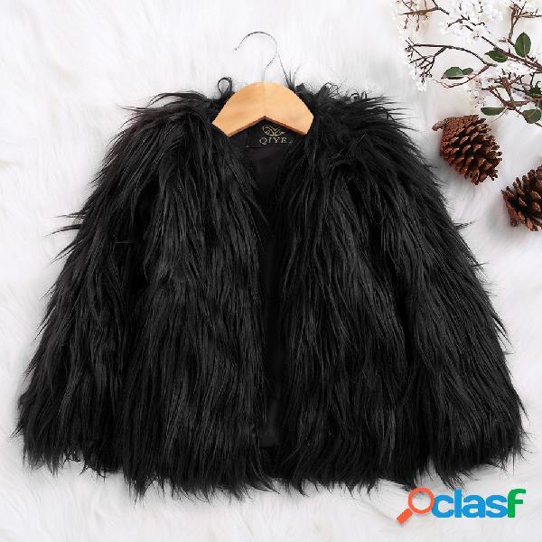 Abrigos de abrigo de invierno de manga larga para niñas de