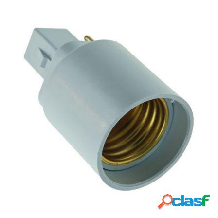 Adaptador/conversor 10163 e27 a g24 - ip20 - 40x40x70 mm -