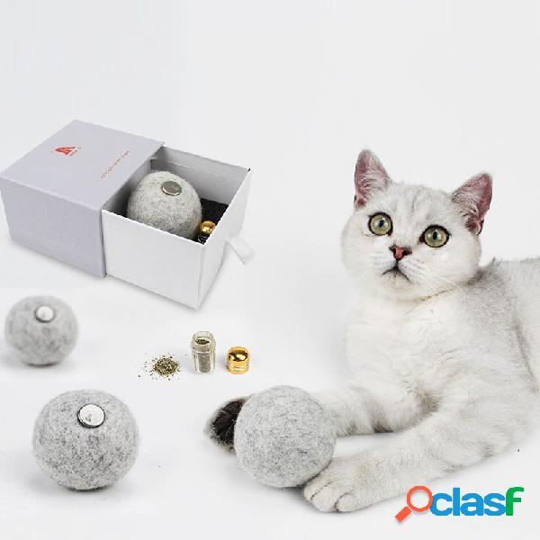 Adicción Catnip Ball Mascota Gato Juguetes Saludable Lana