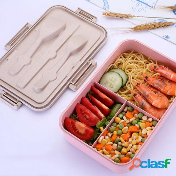 Almuerzo para microondas Caja con compartimentos para