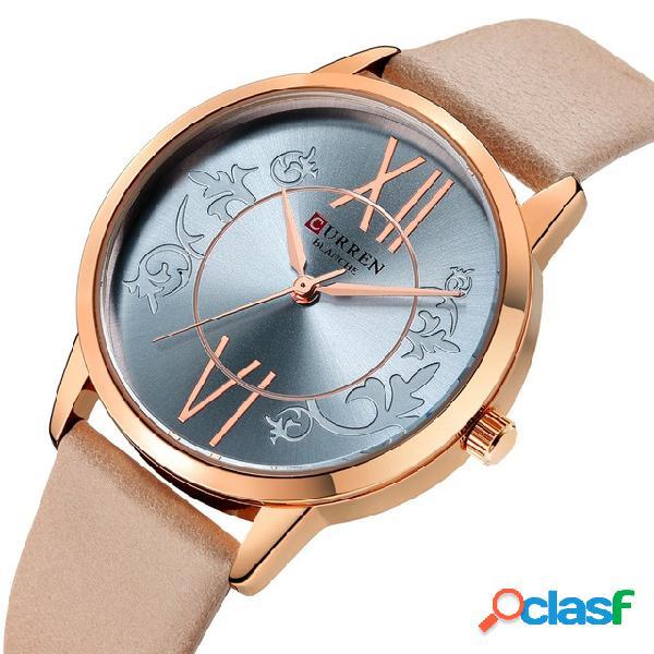 Analógico estilo casual Mujer reloj de pulsera de cuero