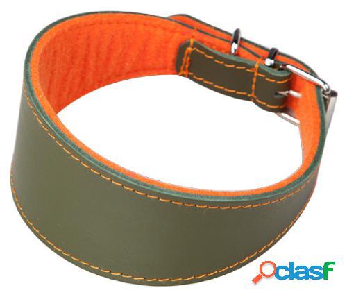 Arppe Collar Galgo Cuero Superfelt Verde/Naranja Diferentes
