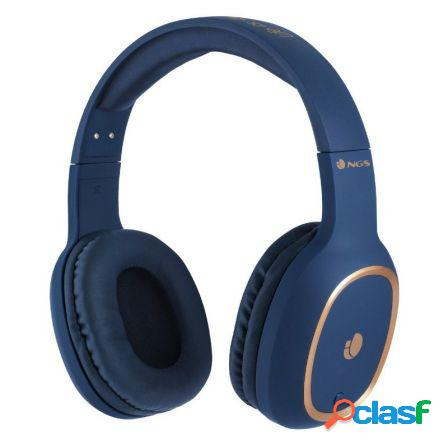 Auriculares bluetooth ngs artica pride blue - alcance 10m -
