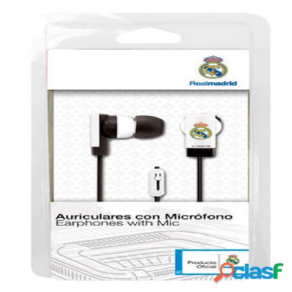 Auriculares boton Real Madrid blanco