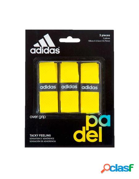 Blister overgrips Adidas 3 uds Amarillo - Overgrips