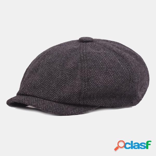 Boina de algodón Hombre Pintor Sombrero Newsboy Sombrero
