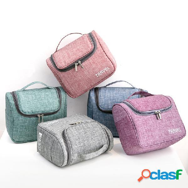 Bolso cosmético multifuncional de lavado de viaje de gran