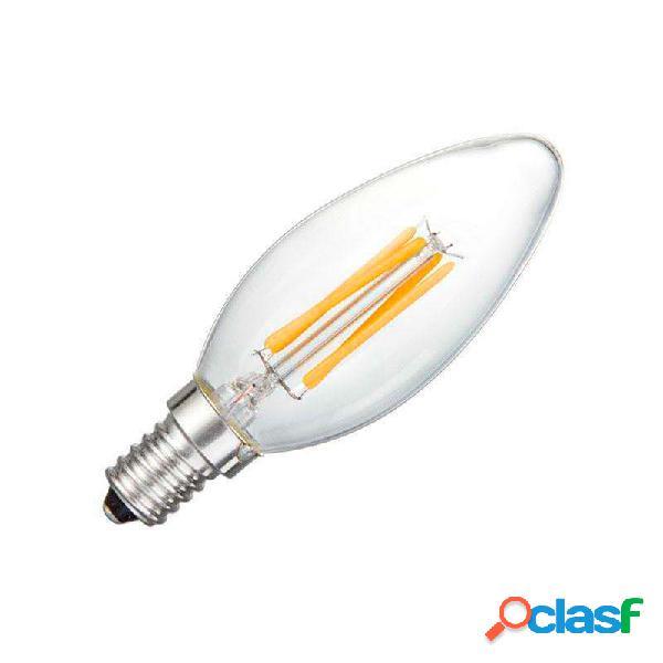 Bombilla filamento led vela e14 cob 4w regulable blanco