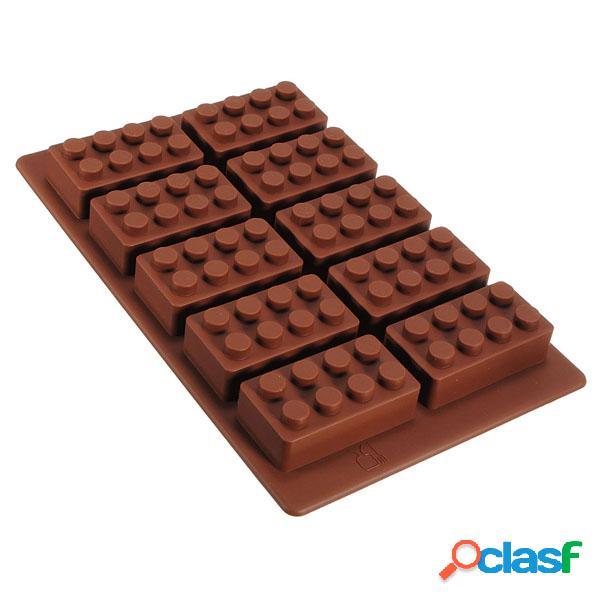 Brick Pattern Silicone Ice Cube Jelly Tray Maker Molde de