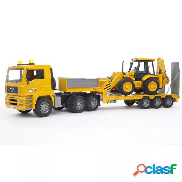 Bruder Camión con cargador bajo y excavadora MAN TGA 1:16
