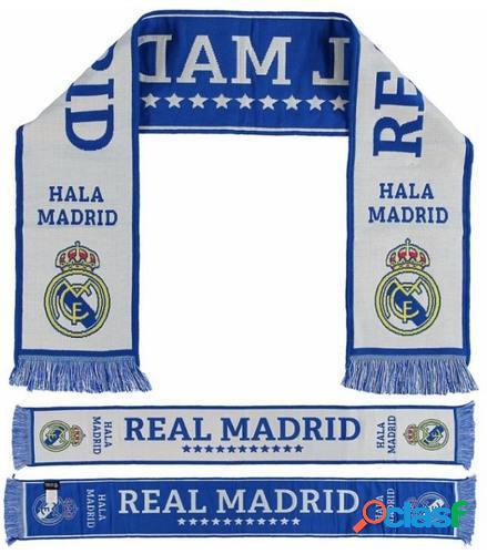 Bufanda Real Madrid blanca y Azul Stars
