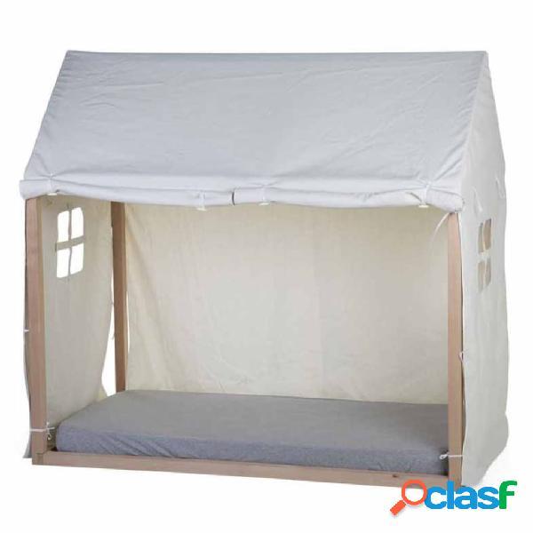 CHILDHOME Dosel para cama en forma de casa blanco 150x80x140