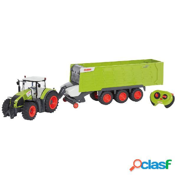 CLAAS Tractor con remolque teledirigido AXION870 y